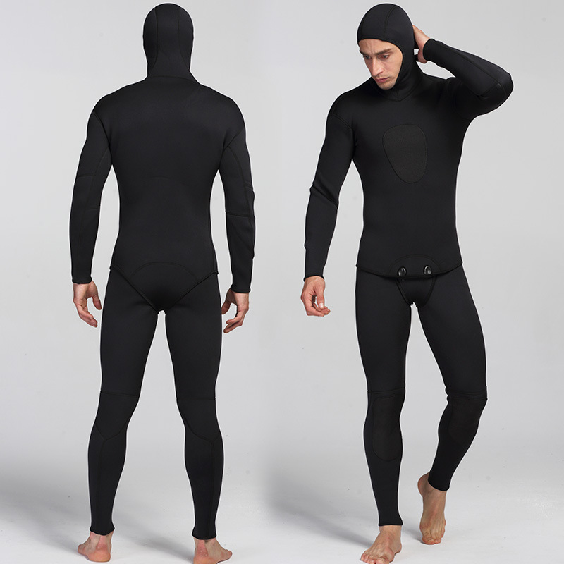 3mm Neoprene Diving Suit For Men Swimming Surfing Jump Suit Surfacing Warm Wetsuit Suspender Trousers And Jacket 2pcs/set