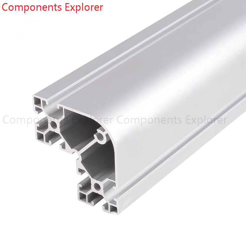 Arbitrary Cutting 1000mm 8840 Arc Aluminum Extrusion Profile,Silvery Color.