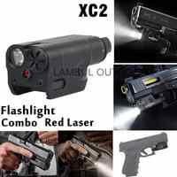 XC2 Ultra Laser Light Compact Pistol Flashlight Combo Red Dot Laser Tactical LED MINI White Light 200 Lumens Airsoft Flashlight