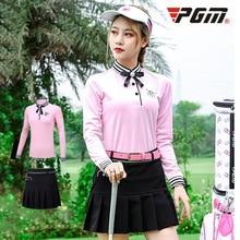 Платье для гольфа, женский костюм, осенне-зимняя одежда, футболка с длинными рукавами, спортивная одежда для гольфа