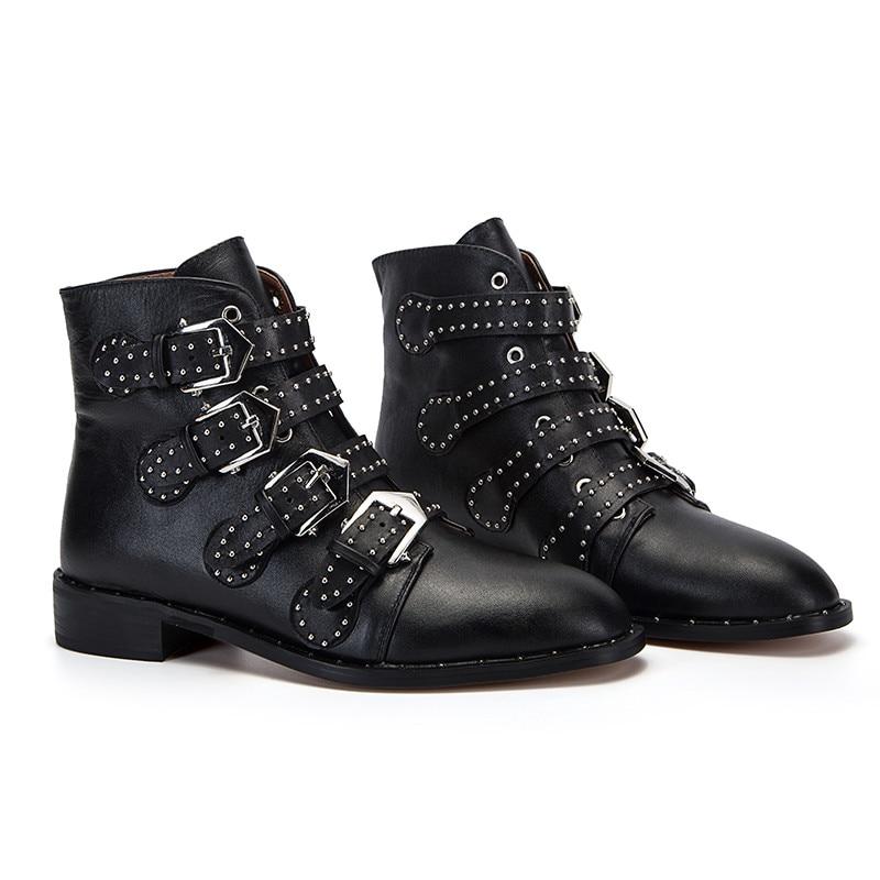 Chaussures Chunky as Rivet Bottes Picture Picture Courtes Moto Sangle Femme Cloutés Cheville As Femmes Boucle Susanna Botas Celebrity Talons w5CqRfw
