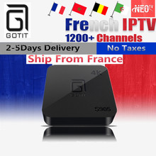 French Belgium IPTV GOTiT S905 4K Smart Android TV box 1000+NEOTV Portugal IPTV Arabic Tunisia Morocco Germany Italy PayTV & VOD(China)