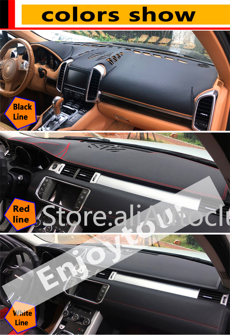 Pour Land Rover Discovery LR3 LR4 2004-2016 2009 cuir Dashmat couverture de tableau de bord tapis de bord voiture personnalisée style LHD + RHD - 2