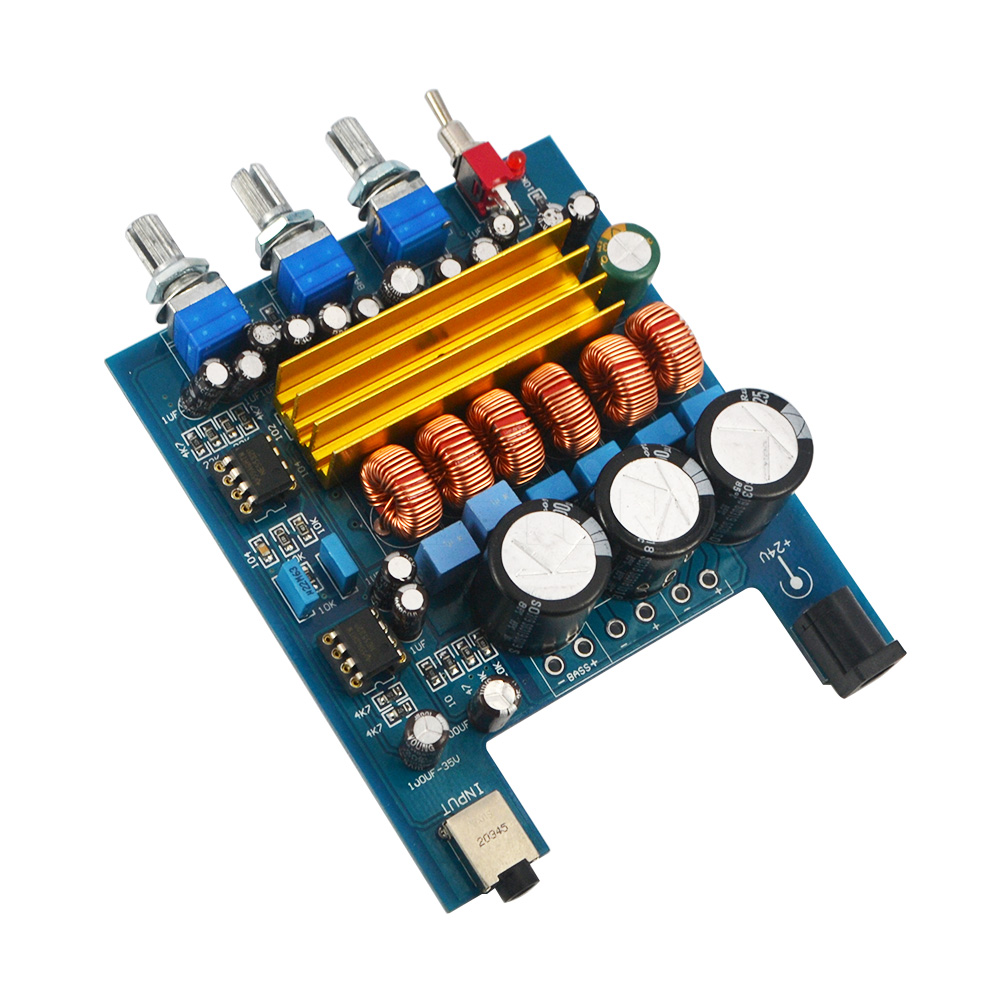 E74 21 Digital Subwoofer Amplifier Verst Board High Power 50w 100w Hifi Adjuster In From Consumer