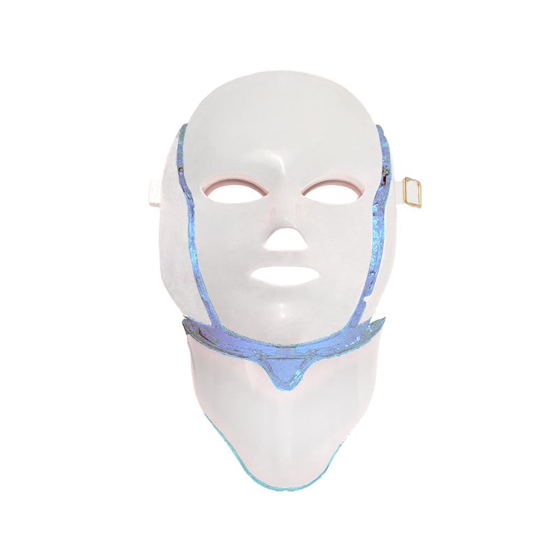 DHL Free Shipping 7 colors PDT photon led LED facial neck mask Smart system Led light therapy mask for Anti-Aging Beauty Mask