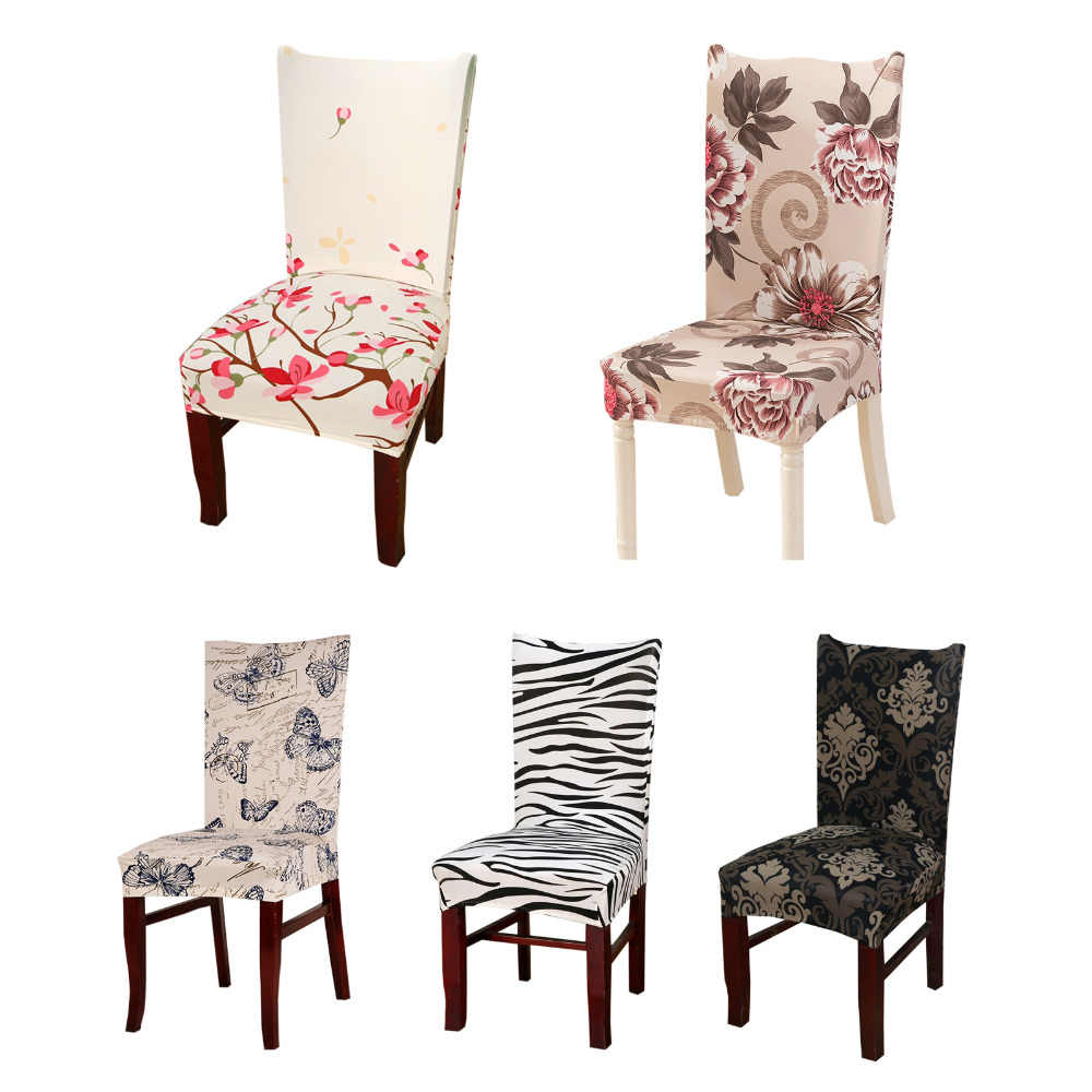 Spandex Elastic Dining Chair Cover Modern Removable Anti-dirty Kitchen Seat  Protector Case Stretch Chair Seat Covers for Banquet