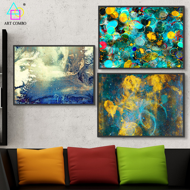 Creative Unframed Special Abstract Painting Artwork Nice Wall Art ...