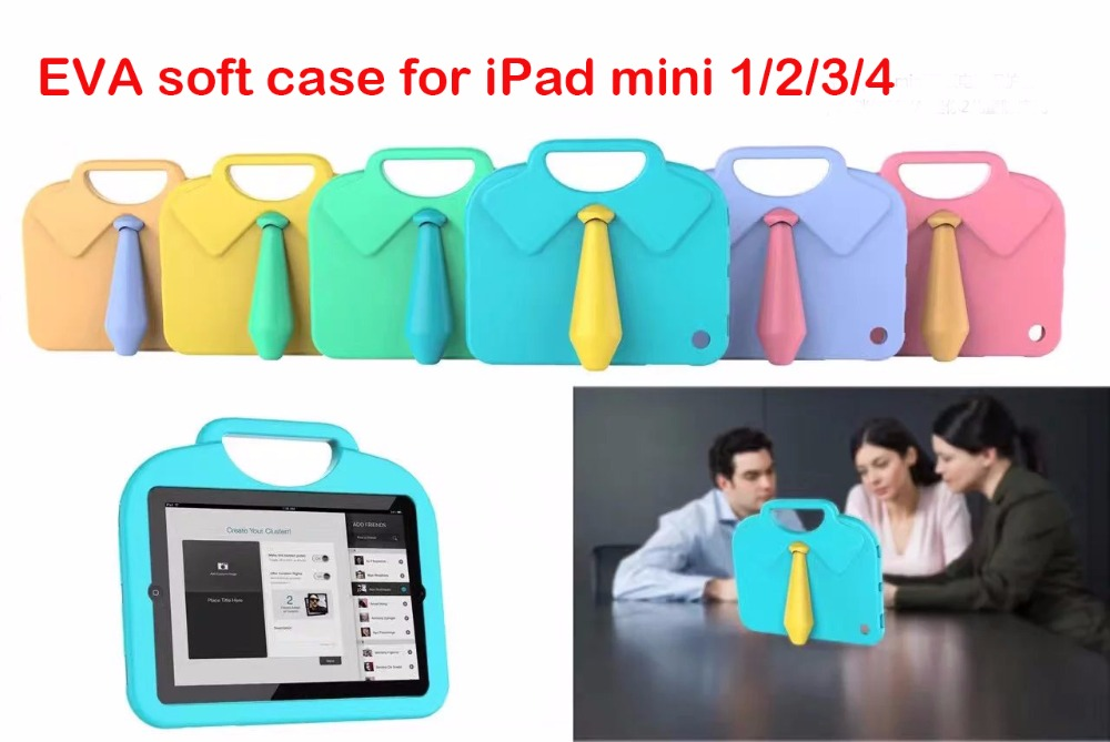 Fashion EVA Case Cover for iPad Mini 1/2/3 case Cartoon Children case for iPad mini4 Tablet protector case+Screen film+Pen+OTG
