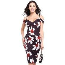 Dresses Women 2018 fashion new Strapless Stretch Pencil Shoulder Fashion  women s Sexy High Waist Printed Dress 8e60c19c5
