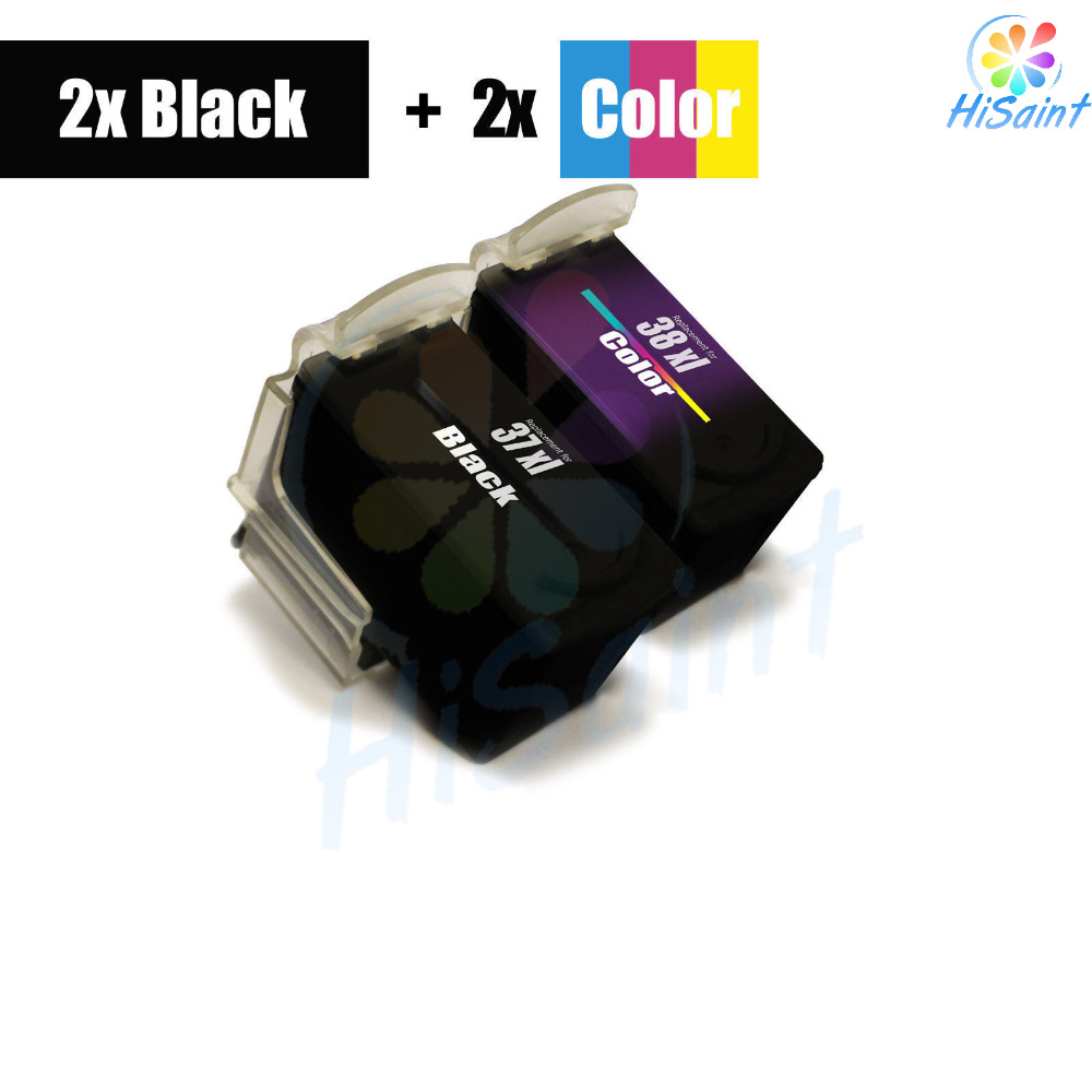 free shipping 2016 New [Hisaint INK ] 4 for Canon Pixma IP1800 IP1900 MP140 MP190 MP210 MP220 MX300 PG-37 CL-38 2-2 pg37 ink cartridge for canon pg 37 mp210 mp220 mx300 mx310 ip1800 ip1900 priner cartridge freeshipping