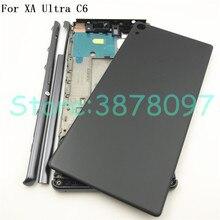 เต็มรูปแบบกลางด้านหน้ากรอบที่อยู่อาศัยสำหรับ Sony Xperia XA Ultra C6 F3215 F3216 F3212 + ด้านข้าง Stripe ด้านข้างปุ่ม