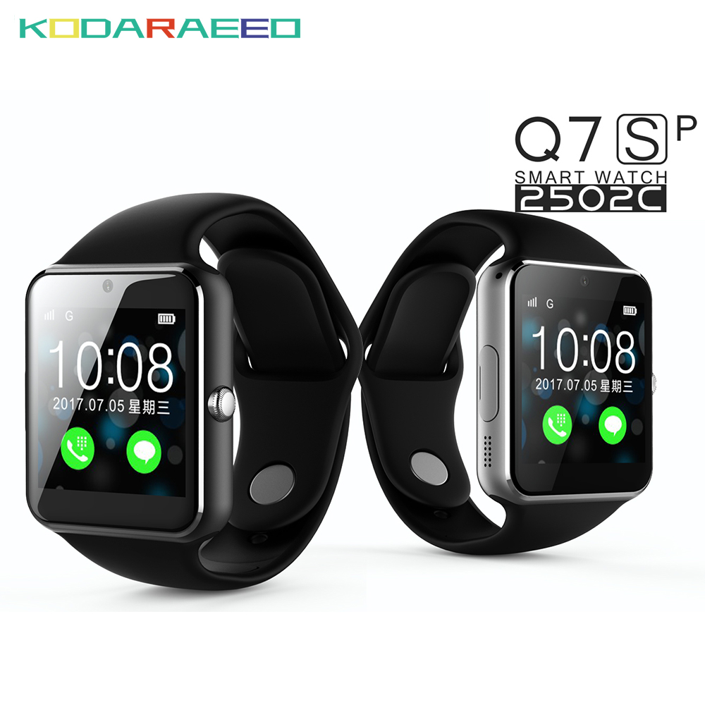 Q7S Smart bluetooth Watch Support Sim Card watch phone whatsapp fackbook Connectivity Android Phone Russian Smartwatch Q7S PLus-in Smart Watches ...