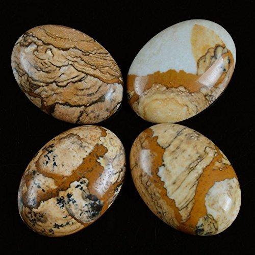 Натуральный камень каменный Агат e Кабошон бусины 22*30 мм плоское дно драгоценный камень каменный Кабошон для изготовления ювелирных изделий 10 шт./партия - Цвет: Picture jasper 10pcs