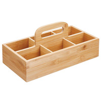 New Hot 6 Slots Bamboo Wood Portable Tea Coffee Storage Box for Kitchen SMD66