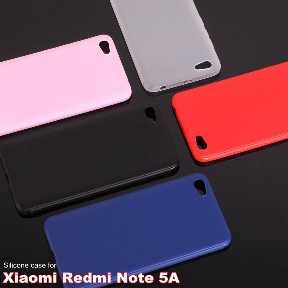 "Xiaomi redmi note 5A case silicone cover 5.5"" Soft TPU case for xiaomi redmi note 5A prime Matte surface Anti-fingerprint"