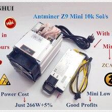 Antminer Z9 Mini 10k Sol/s с 750 Вт PSU ZCASH Equihash Miner Mining ZEN ZEC BTG лучше, чем antminer S9 Z9