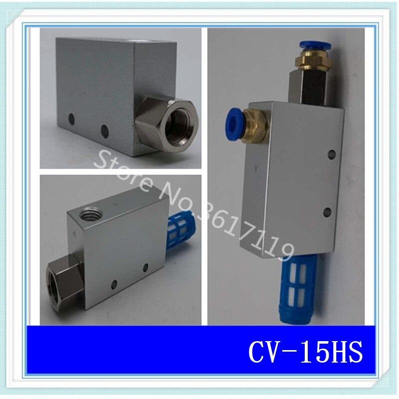 CV-15HS 1/4 Vacuum Generator Negative Pressure Generator Suction Cup Vacuum Control with Muffler with jiont CV-15 cv 20hsck 3 8 vacuum generator with silencer with switchable negative pressure switch