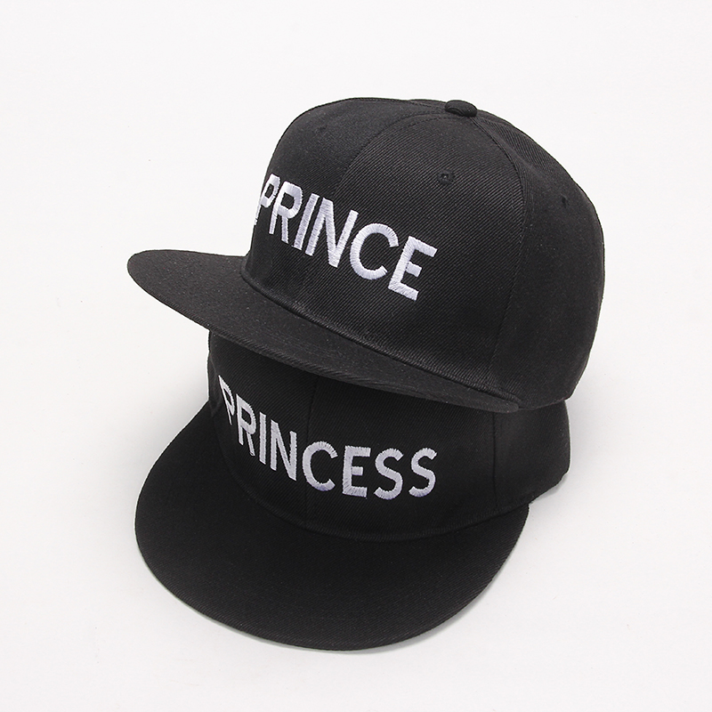 2017 new PRINCE PRINCESS Embroidery men women Snapback Hat Couple Baseball Cap Gifts For friendFashion Hip-hop Caps new 2017 hats for women mix color cotton unisex men winter women fashion hip hop knitted warm hat female beanies cap6a03