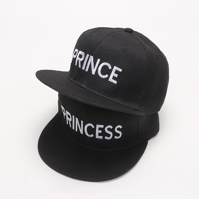 2017 new PRINCE PRINCESS Embroidery men women Snapback Hat Couple Baseball  Cap Gifts For friendFashion Hip 978dfe4788a