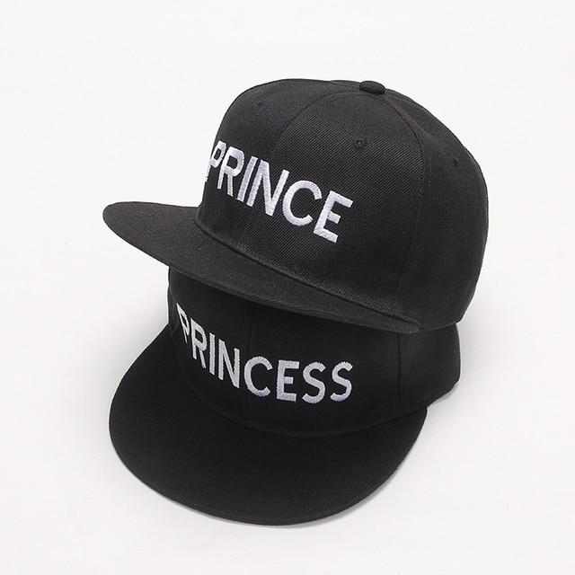 2017 new PRINCE PRINCESS Embroidery men women Snapback Hat Couple Baseball  Cap Gifts For friendFashion Hip-hop Caps 4b4c00709d24