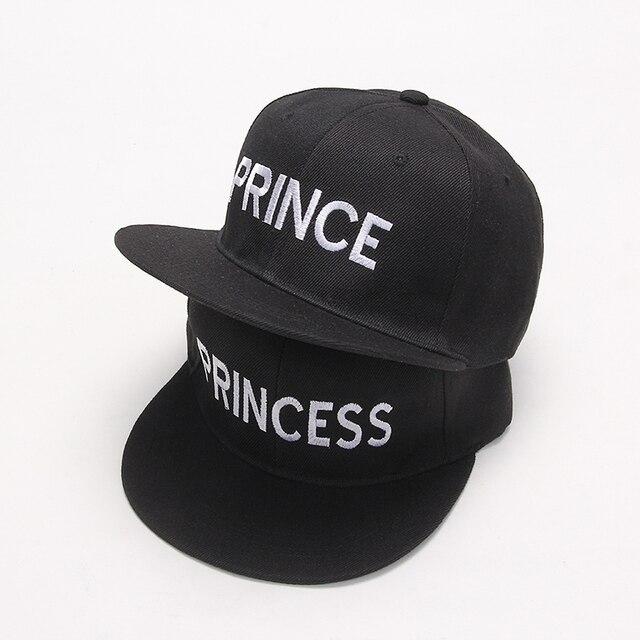2017 nouveau PRINCE PRINCESSE Broderie hommes femmes Snapback Chapeau Couple Baseball Cap Cadeaux Pour friendFashion Hip-Hop Casquettes