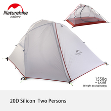 Naturehike 3 Saison Camping Tente Double Couche Dôme Tente Coupe-Vent Imperméable À L'eau 2 Personne Tente
