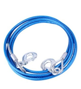 High Quality 5 Ton 4m Car Vehicle Tow Rope Towing Pull Strap Scratch Damping Rope With Hook Heavy Duty Bold Wire Trailer
