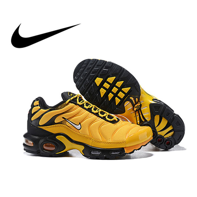 82a951d6e4 Original Nike Air Max Plus Men's Breathable Running Shoes Sports Sneakers  Trainers Outdoor Sports Athletic Designer