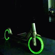 Ночь флуоресцентный шины для скутера Xiaomi Mijia M365 световой амортизатор электрический скутер скейтборд колесо пневматического грузоподъёмника 8,5 дюймов Размер шин