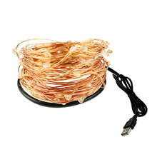 USB Led string  0.4mm Copper 10Meters 100led 33FT 5V Lantern Christmas Holiday Wedding Party Decor Festival Fairy Light Lamp M