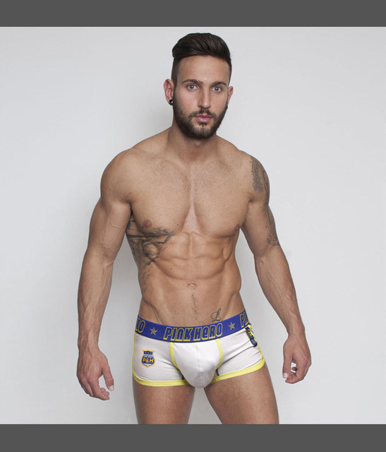 ab27a6889e30 Fashion PINK HERO Brand Mens Underpants 2 piece/lot 100% Cotton Boxers Sexy  Gay Men Underwear Slip Cuecas Male Panties Hot Sale