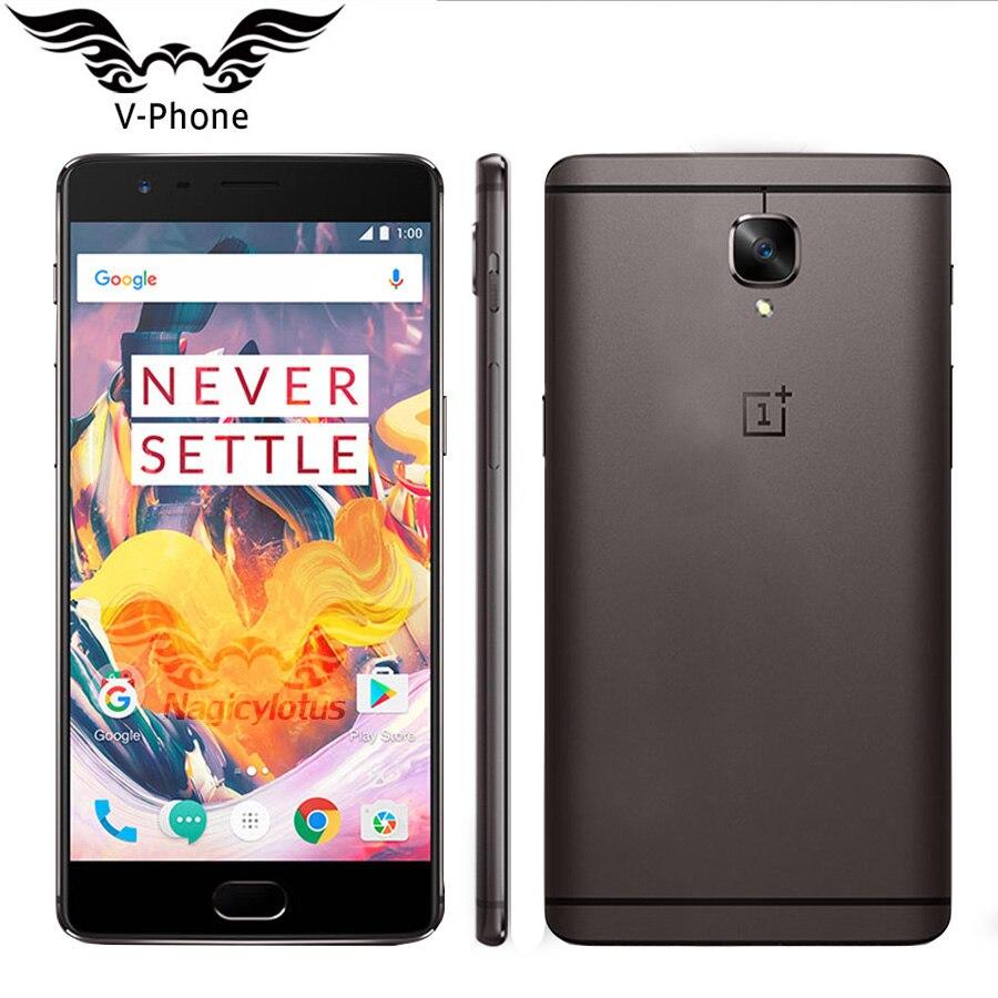 Nova OnePlus 3 T A3003 Versão UE 64 6 GB de RAM GB ROM 4G DEIXAR o Telefone Móvel 5.5 FHD Snapdragon 821 NFC Android Smartphones Móvel