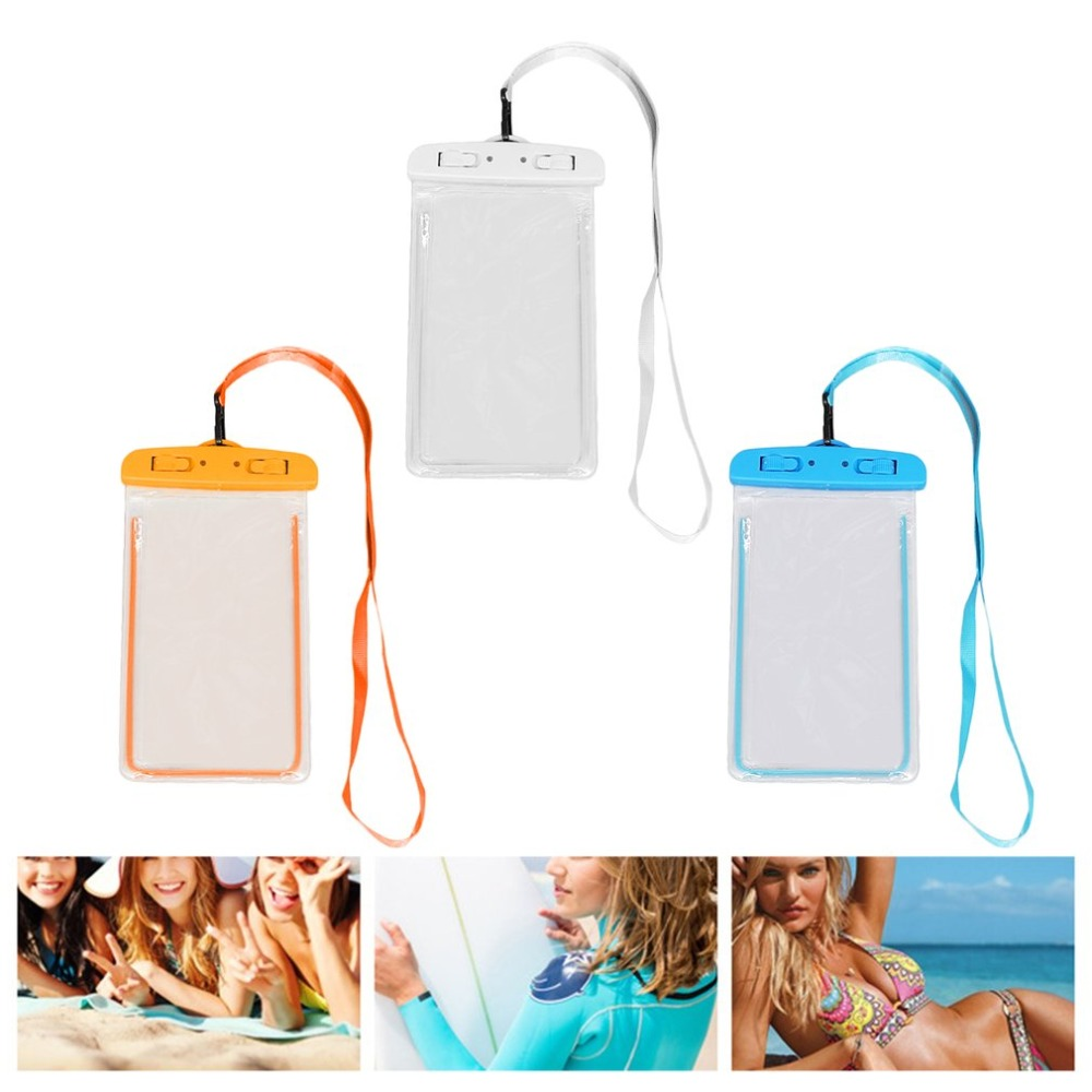 Swimming Bags Waterproof Bag with Luminous Underwater Pouch Phone Case For iphone 6 6s 7 8 universal Band 2018 Wholesale universal waterproof bag with strap for iphone cell phone transparent white