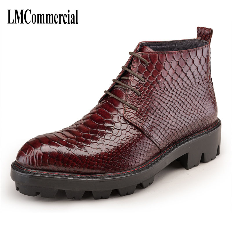 autumn and winter, new British steeple men's leather boots with high top shoes, hair stylist, night-high leather boots male autumn and winter new leather shoes with leather boots and boots with flat boots british classic classic hot wild casual shoes