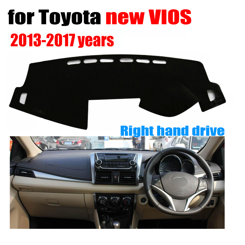 car dashboard cover mat for toyota new vios 2013 to 2017 year right hand drive dashmat pad dash. Black Bedroom Furniture Sets. Home Design Ideas
