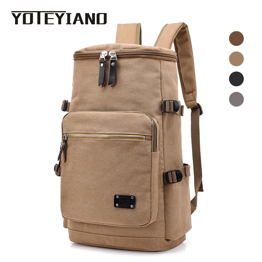 YOTEYIANO Large Capacity Backpack Mens Travel Canvas Rucksack Male Casual knapsack New School Backpack for Teenager 2018 new xiaomi 90 fun classic business travel backpack waterproof large capacity casual travel laptop rucksack school backpack