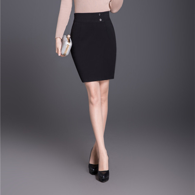 40225338df81f High Waist Pencil Skirt Plus Size Tight Bodycon Fashion Women Mini Skirt  Black Slit Women s Office OL Skirt Fashion Jupe Femme