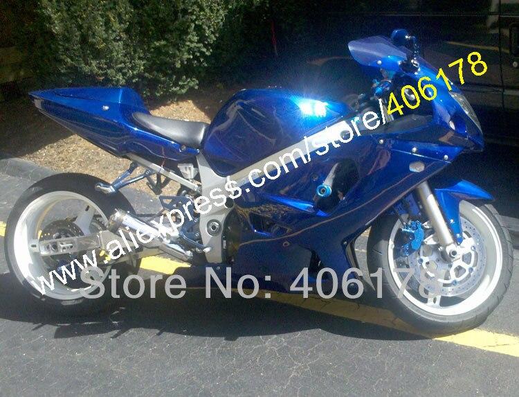 Hot Sales,Customized For SUZUKI K1 GSX-R600 01-03 GSXR600 GSX R600 GSXR 600 2001 2002 2003 All blue Fairing (Injection molding)