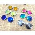 2016 Crianças Óculos de Sol Reflexivos moda óculos de sol Do Esporte Óculos de Proteção Anti-UV flor de idade Meninos/Meninas Oculos óculos de Bebê das Crianças