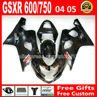 Бесплатно для 2004 2005 SUZUKI GSXR 600 750 глянцевый черный зализа K4 RIZLA версия gsxr600 QEC GSX R750 04 05 мотоцикл 743