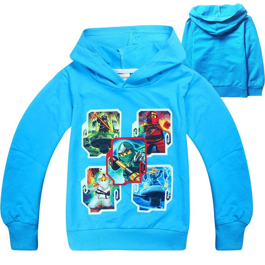2018 Spring Childrens Clothing Kids Boys Hoodies Cartoon Ninjago Printed ninja movie Baby Girls Pullover Top Shirts Sweatshir