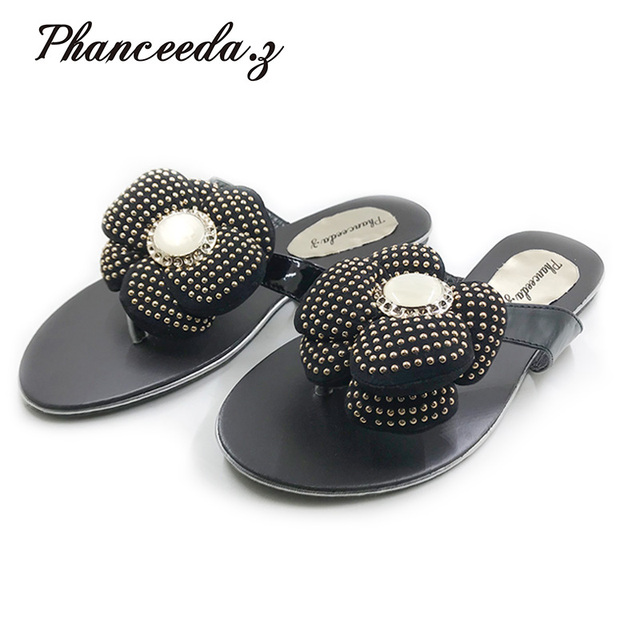 New 2017 Casual Shoes Women Sandals Sandalias Mujer Summer Style Fashion Flip Flops Good Quality Flats Solid Slippers Size 4-10