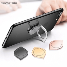 Фотография TIANSTON Metal Phone Finger Ring Holder for Xiaomi Redmi IPhone 7 6 Plus Universal 360 Rotary Magnetic Finger Grip Stand Holder