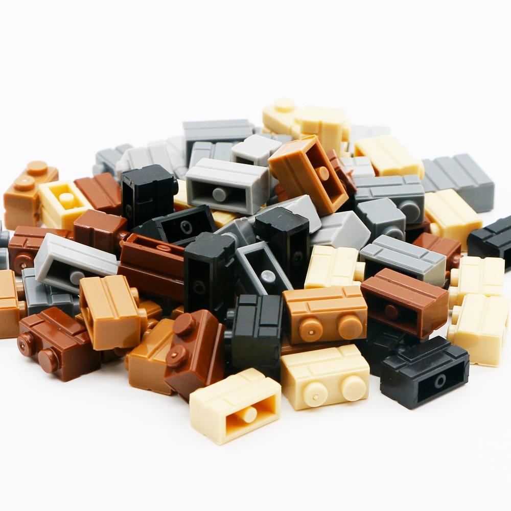 Compatible LegoINGlys Military City Castle Building Blocks Wall House Parts Mini Figure Accessories MOC Brick Toys For Children