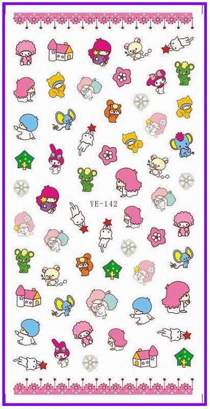Children Kt Cat Nail Sticker Pvc Art Stickers Decals Kids Gift Decoration
