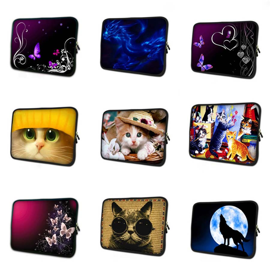cat print laptop sleeve 7 9 soft notebook cover soft tablet case 7 mini Tablet Protective Shell for samsung galaxy tab 3 TB 4033 in Tablets e Books Case from Computer Office