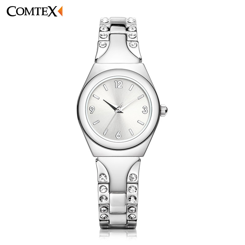 COMTEX Watches Women Watch Luxury Fashion Wristwatch Female Stainless Steel Small dial waterproof Watchs Lady Rhinestone Clock fashion leather watches for women analog watches elegant casual major wristwatch clock small dial mini hot sale wholesale