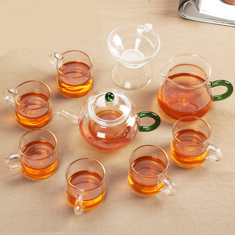 Drinkware Double Wall Glass Cup Clear Heat Resistant Double Layer Mug Water Cup Chinese Tea set Kungfu Tea Sets Drinkware