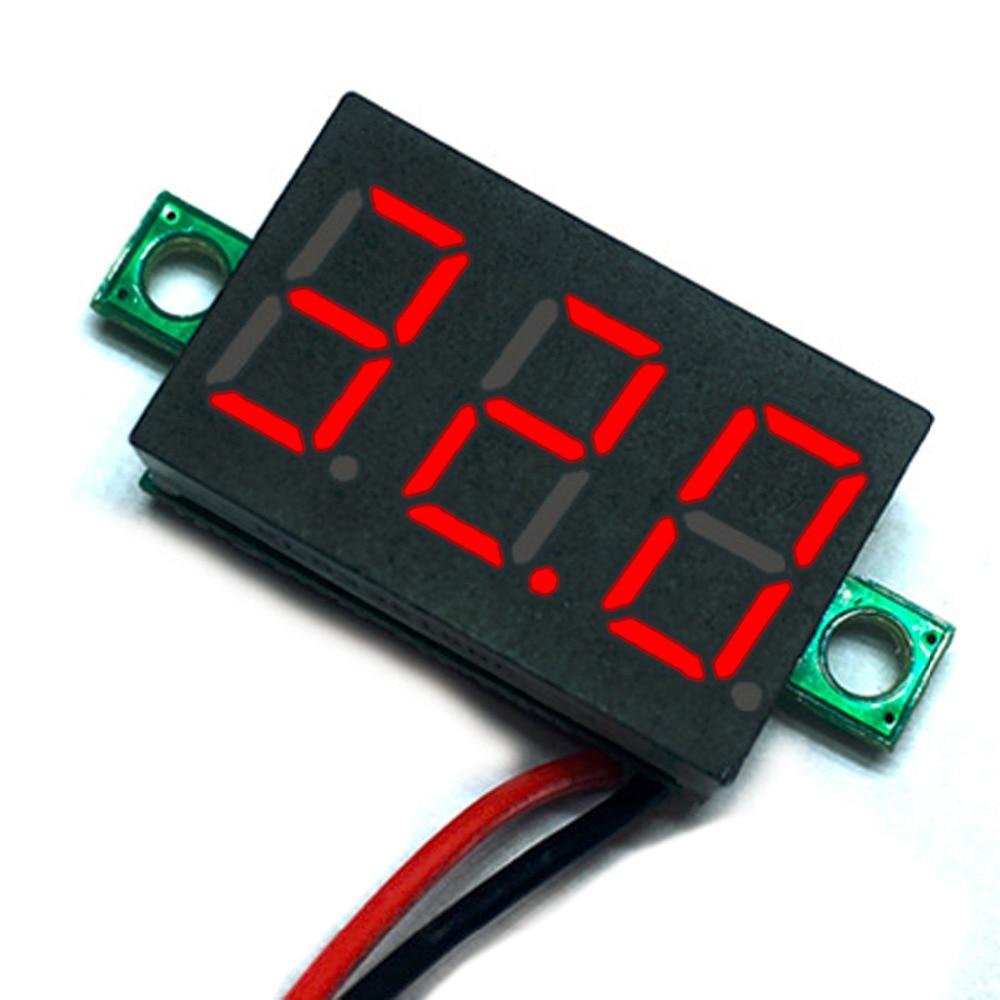 Red LED Amp Volt Meter Gauge LCD Digital Voltmeter Voltimetro Voltage Meter DC 2.50 to 32.0V 2pc lcd digital voltmeter ammeter voltimetro red led amp amperimetro volt meter gauge voltage meter dc wholesale