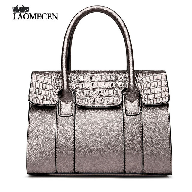 12c518c5e5b6 Fashion Vintage Fake Designer Shoulder Bags with Crocodile pattern handbags  Luxury style Ladies Solid High Capacity Bright bag